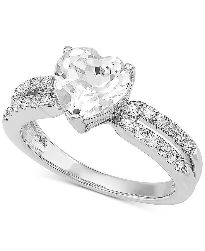 Arabella - Swarovski Zirconia Heart Ring in Sterling Silver