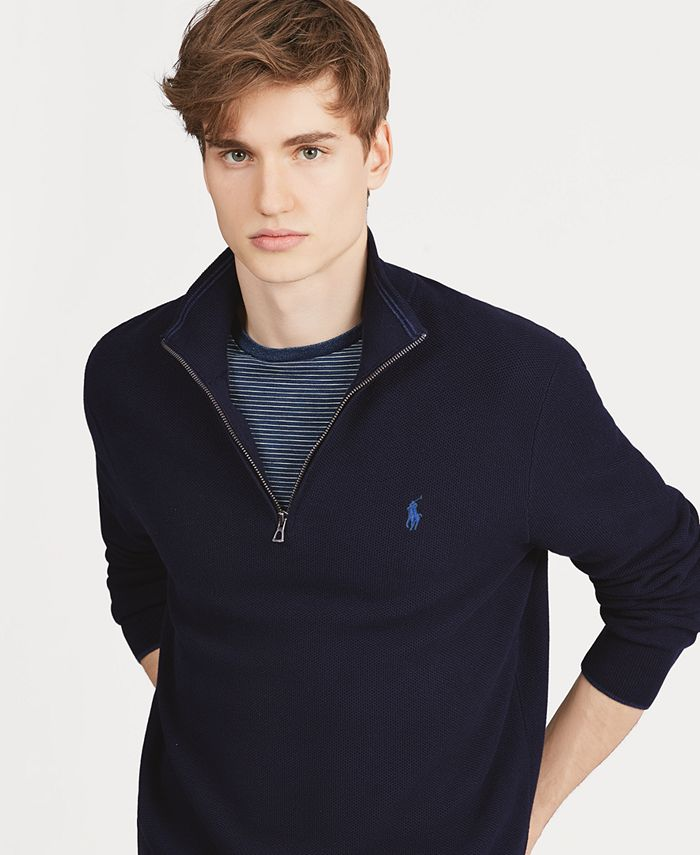 Polo Ralph Lauren - Men's Cotton Quarter-Zip Sweater
