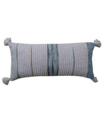 """Decorative Throw Pillow 14"""" x 30"""" for Couch Handloom Woven Textured Stripes"""