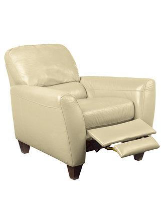 Almafi Leather Recliner Furniture Macy S