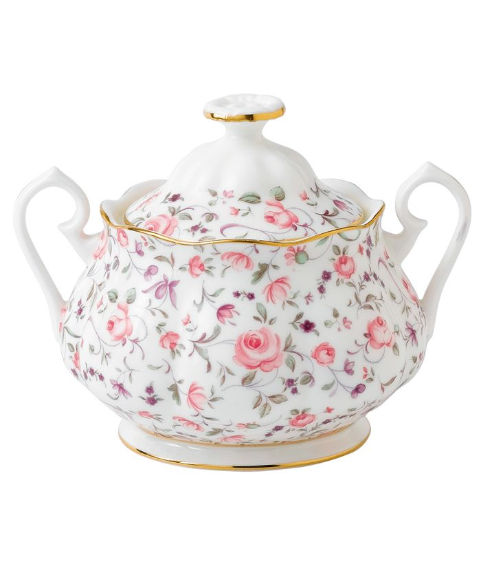Royal Albert - Rose Confetti Sugar Bowl with Lid
