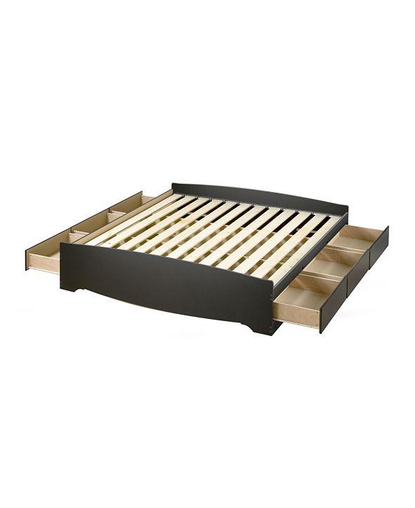 Prepac King Mate's Platform Storage Bed with 6 Drawers