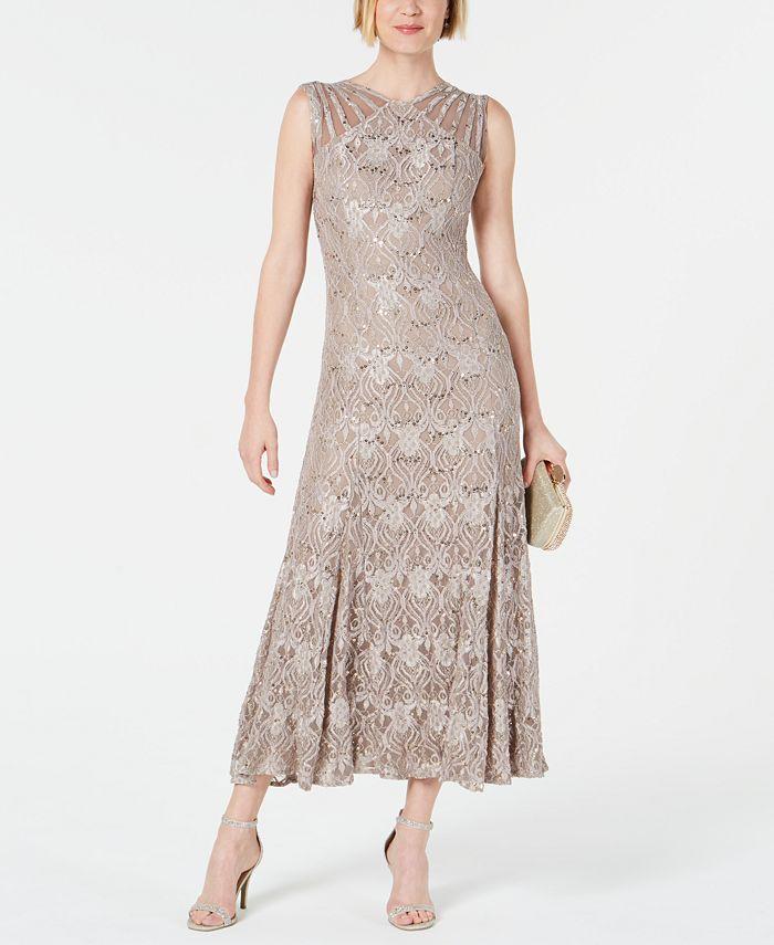 R & M Richards - Long Sequin Gown