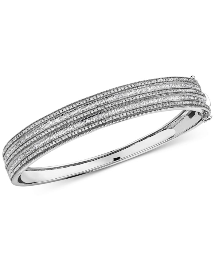 EFFY Collection EFFY® Diamond Bangle Bracelet (1-1/2 ct. t.w.) in 14k White Gold & Reviews - Bracelets - Jewelry & Watches - Macy's