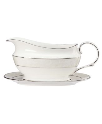 Lenox Venetian Lace Gravy Boat and Stand