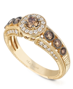 Le Vian 14k Gold White and Chocolate Diamond Engagement Ring (7/8 ct. t.w.)