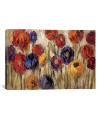 Asters and Mums by Silvia Vassileva Gallery-Wrapped Canvas Print - 40