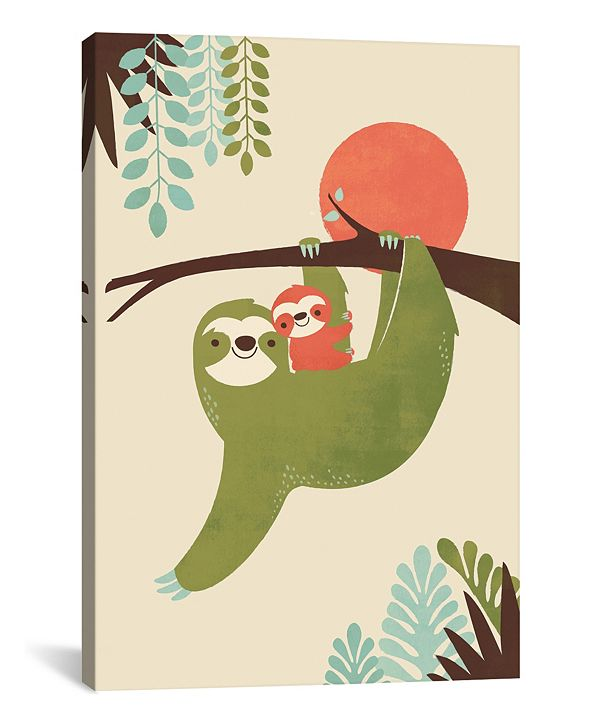 iCanvas Mama Sloth by Jay Fleck Gallery-Wrapped Canvas Print Collection