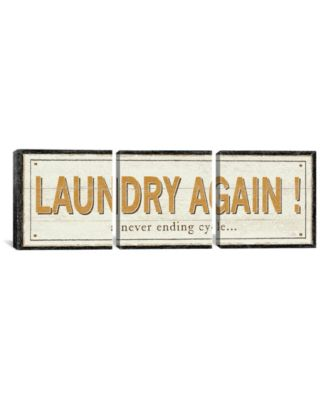 """Laundry Again! by Pela Studio Gallery-Wrapped Canvas Print - 20"""" x 60"""" x 1.5"""""""