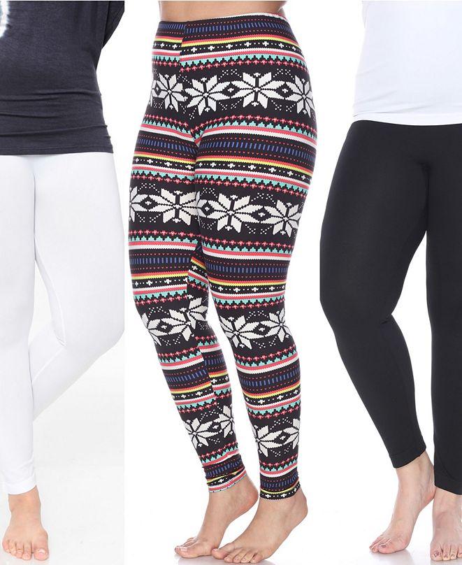 White Mark Pack of 3 Plus Size Leggings