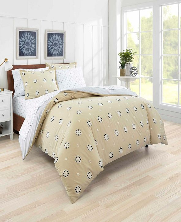 Poppy & Fritz Darcy Eyelet Duvet Cover Set, Full/Queen
