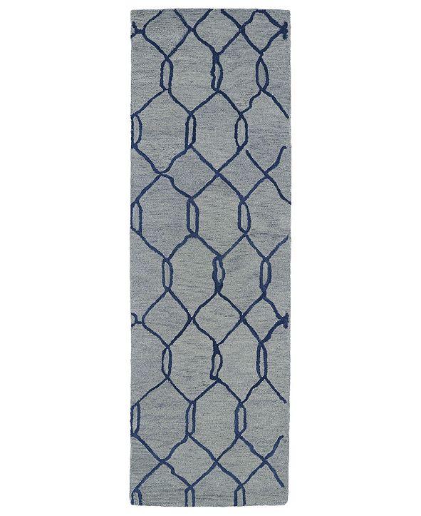 Kaleen Casablanca CAS02-17 Blue 3' x 10' Runner Rug