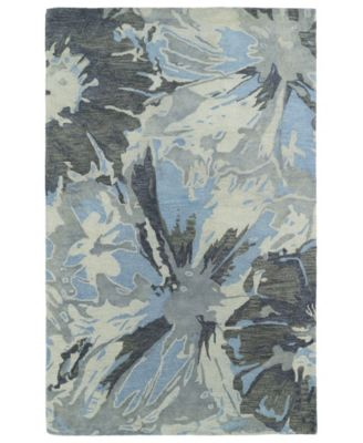 "Brushstrokes BRS06-75 Gray 9'6"" x 13' Area Rug"