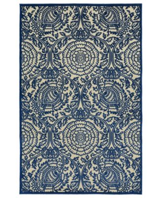 "A Breath of Fresh Air FSR102-22 Navy 2'1"" x 4' Area Rug"