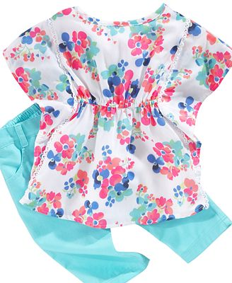 Nannette Baby Set, Baby Girls Floral Top and Capris