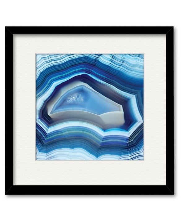 "Courtside Market Agate 16"" x 16"" Framed and Matted Art"