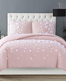 Christian Siriano Confetti Flowers 3 Piece Blush Full/Queen Comforter Set