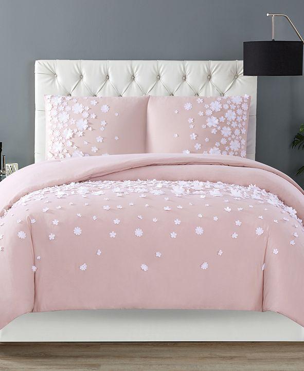 Christian Siriano New York Christian Siriano Confetti Flowers 3 Piece Blush Full/Queen Comforter Set