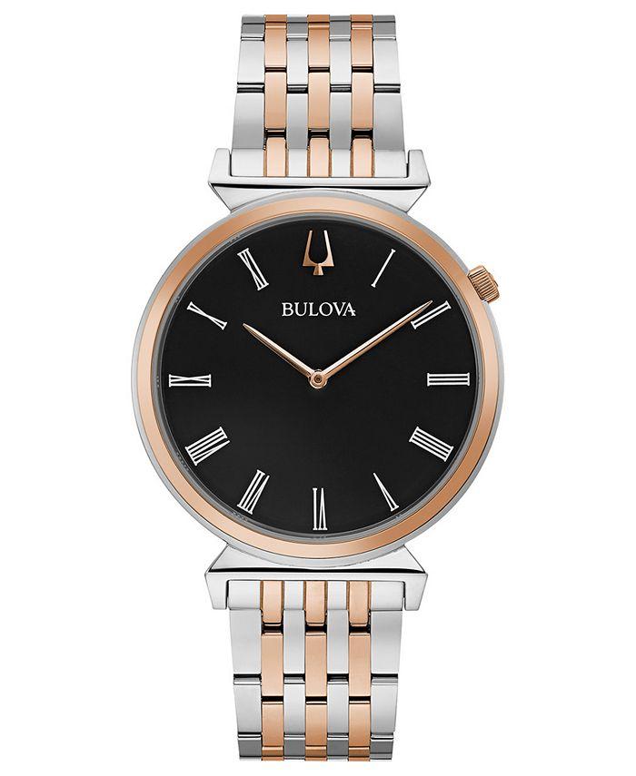 Bulova - Men's Regatta Two-Tone Stainless Steel Bracelet Watch 38mm