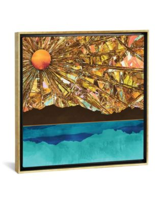 """Fractured Sky by Spacefrog Designs Gallery-Wrapped Canvas Print - 37"""" x 37"""" x 0.75"""""""