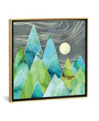 "Moonlit Mountains by Spacefrog Designs Gallery-Wrapped Canvas Print - 18"" x 18"" x 0.75"""