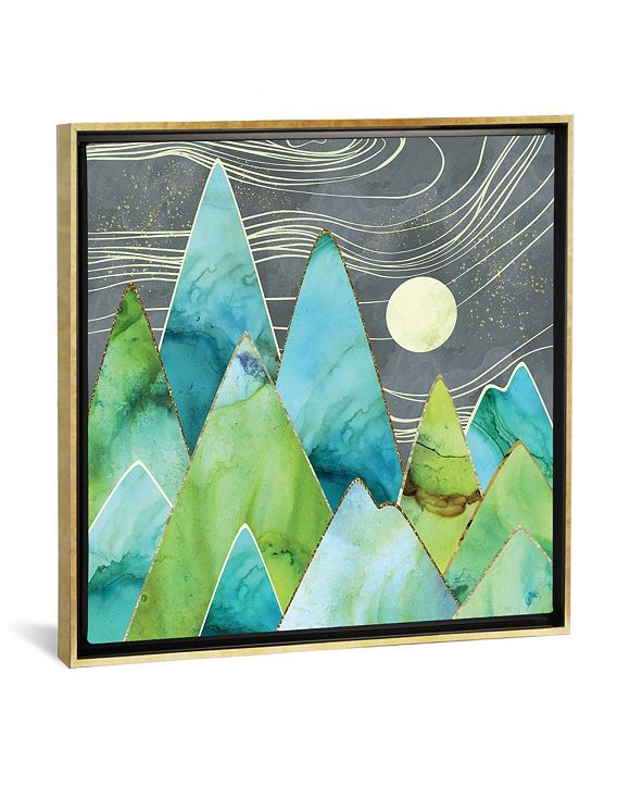 iCanvas Moonlit Mountains by Spacefrog Designs Gallery-Wrapped Canvas Print