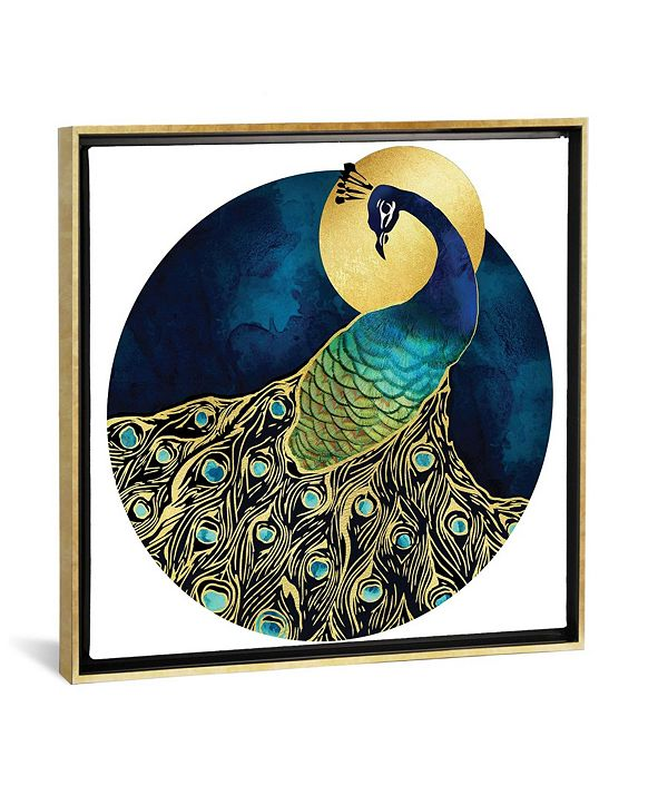 "iCanvas Golden Peacock by Spacefrog Designs Gallery-Wrapped Canvas Print - 26"" x 26"" x 0.75"""