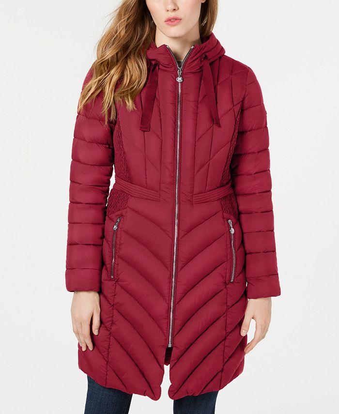Bernardo - Hooded Packable Puffer Coat