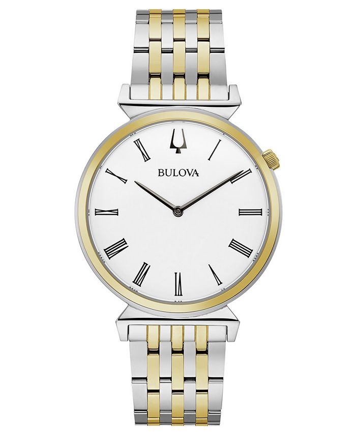 Bulova - Men's Regatta Two-Tone Stainless Steel Bracelet Watch 38mm