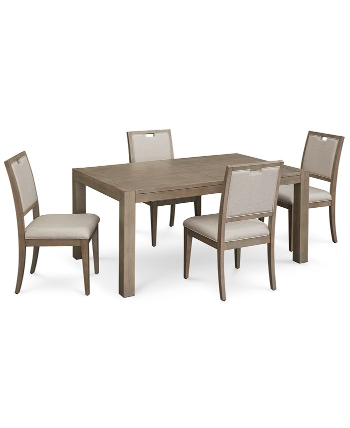 Furniture - Melbourne Dining , 5-Pc. Set (Expandable Table & 4 Side Chairs)