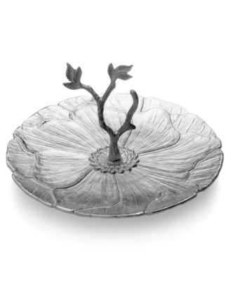 Mikasa Serveware, Botanical Flower Serving Platter with Twig Handle