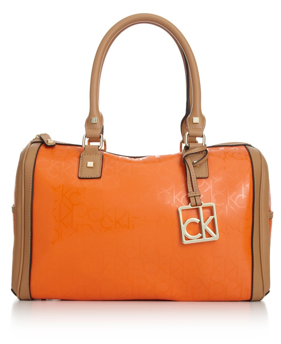 433435aff0e Calvin Klein Hudson Signature Embossed Satchel Handbags & Accessories