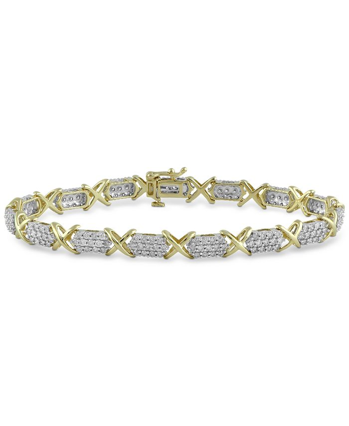 Macy's - Diamond Tennis Bracelet (3 ct. t.w.) in 10k Gold