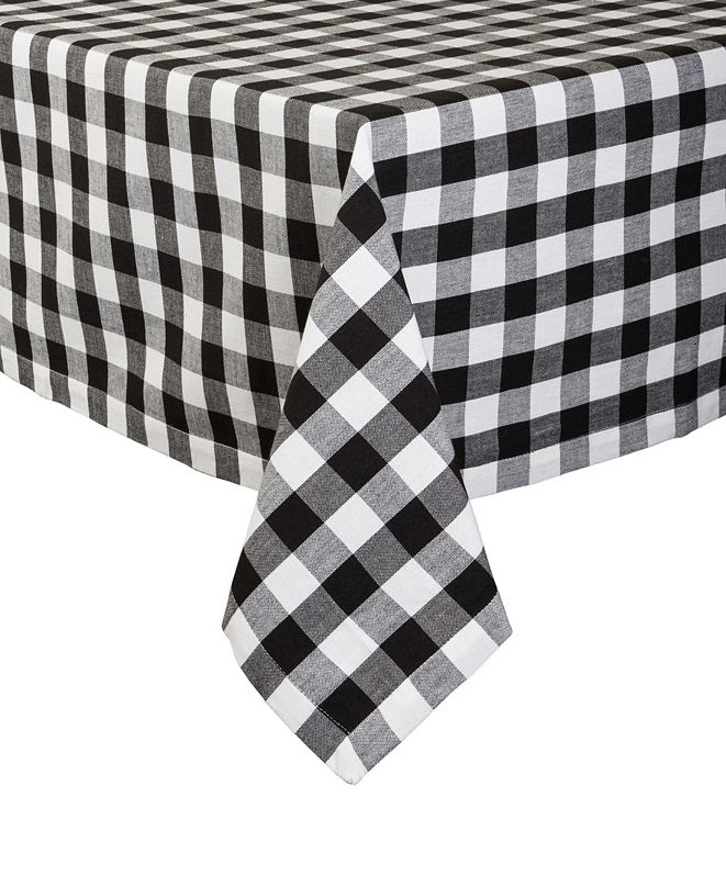 "Design Imports Checkers Tablecloth 52"" x 52"""