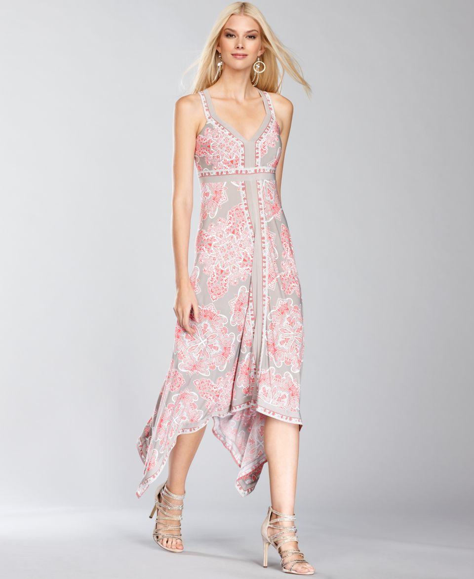 INC International Concepts Dress, Sleeveless Crisscross Strap Printed