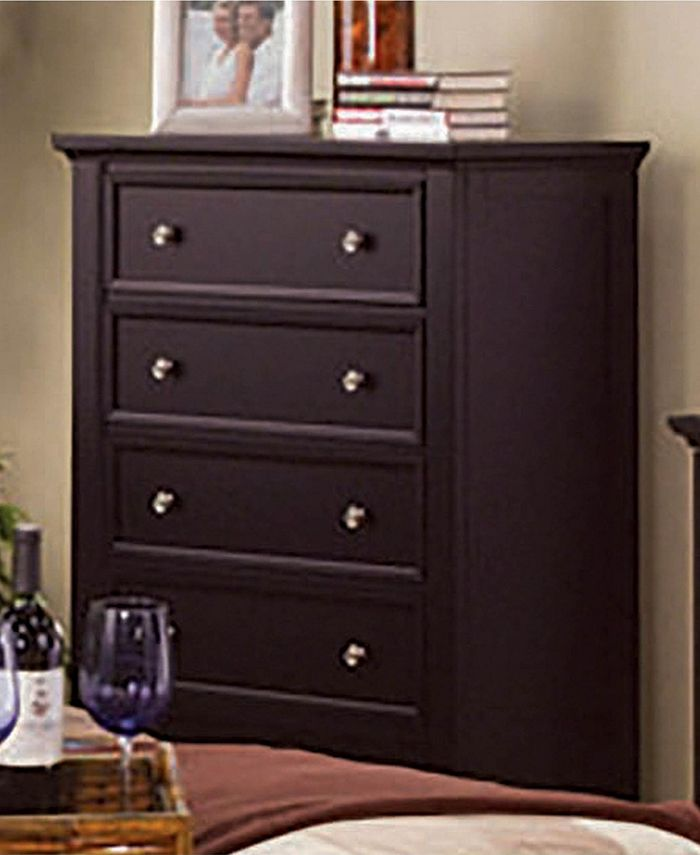 Macy's - Sandy Beach 5-Drawer Chest Cappuccino