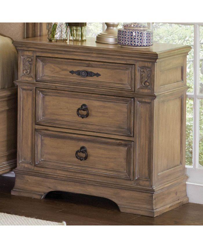 Macy's - Ilana 3-drawer Nightstand Antique Linen