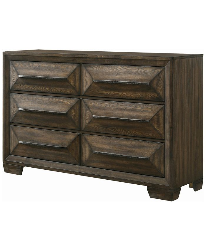 Macy's - Preston 6-drawer Dresser Rustic Chestnut