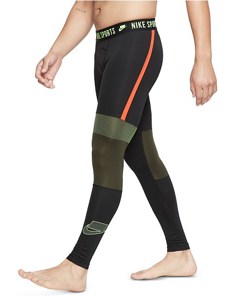 Nike Men's Pro Sport Clash Colorblocked Compression Leggings ...