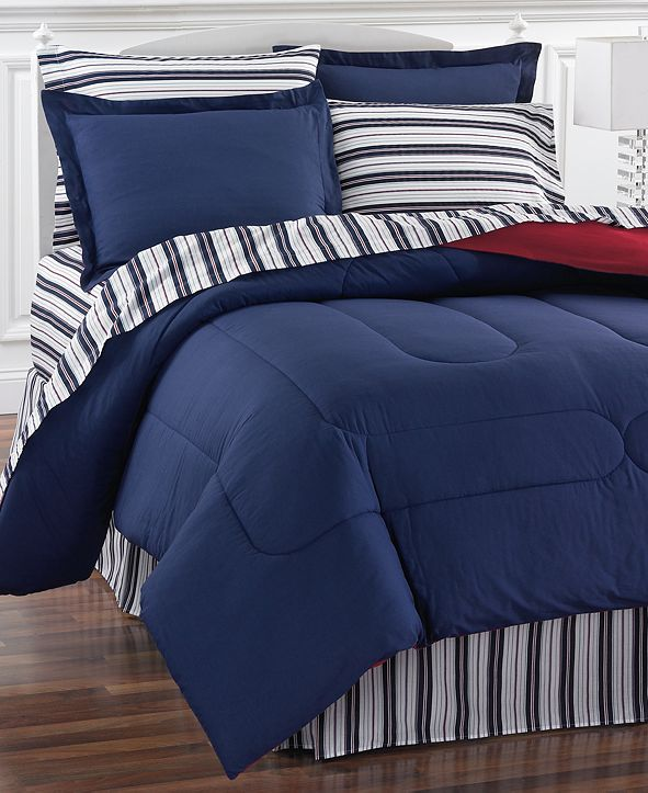 Fairfield Square Collection Navy Yard Reversible 8-Pc. Bedding Sets