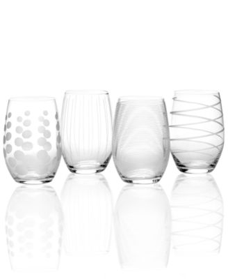 Mikasa Glassware, Set of 4 Cheers Stemless Wine Glasses