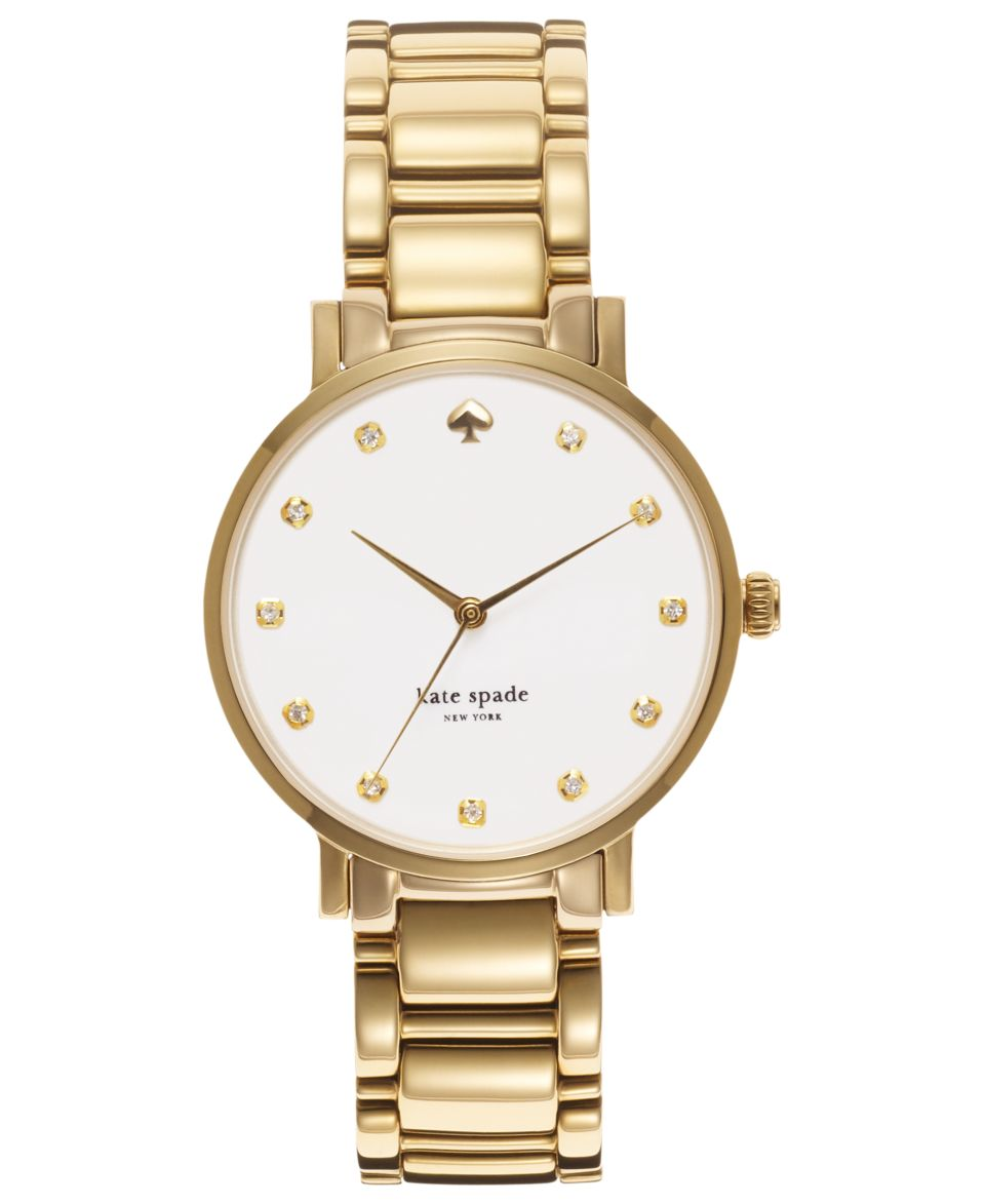 kate spade new york Watch, Womens Gramercy Gold Tone Stainless Steel Bracelet 34mm 1YRU0007   Watches   Jewelry & Watches