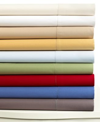 CLOSEOUT! Charter Club Damask Solid 500 Thread Count Standard Pillowcase Pair