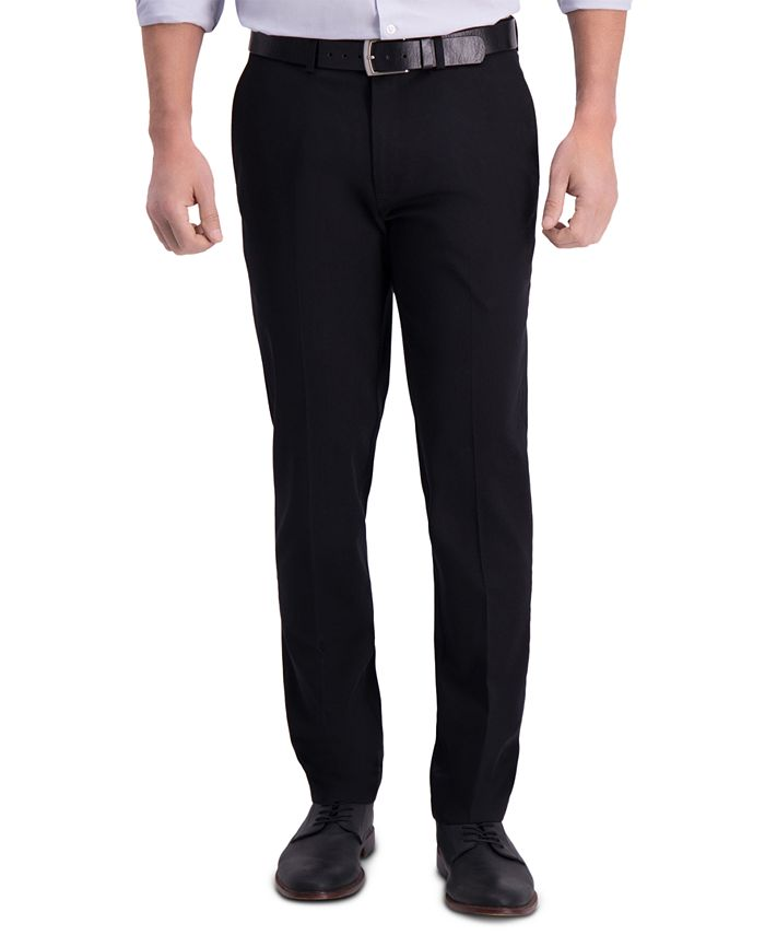 Haggar - Men's Premium Slim-Fit Performance Stretch Non-Iron Flat-Front Dress Pants
