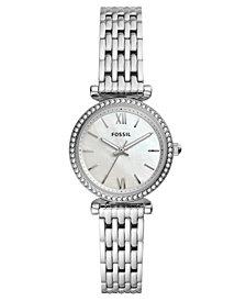 Fossil Women's Mini Carlie Stainless Steel Bracelet Watch 28mm