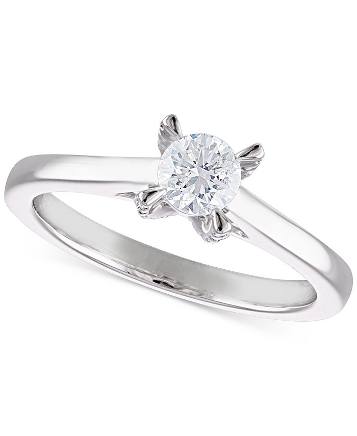 Macy's - Diamond Solitaire Engagement Ring (1/2 ct. t.w.) in 14k White Gold