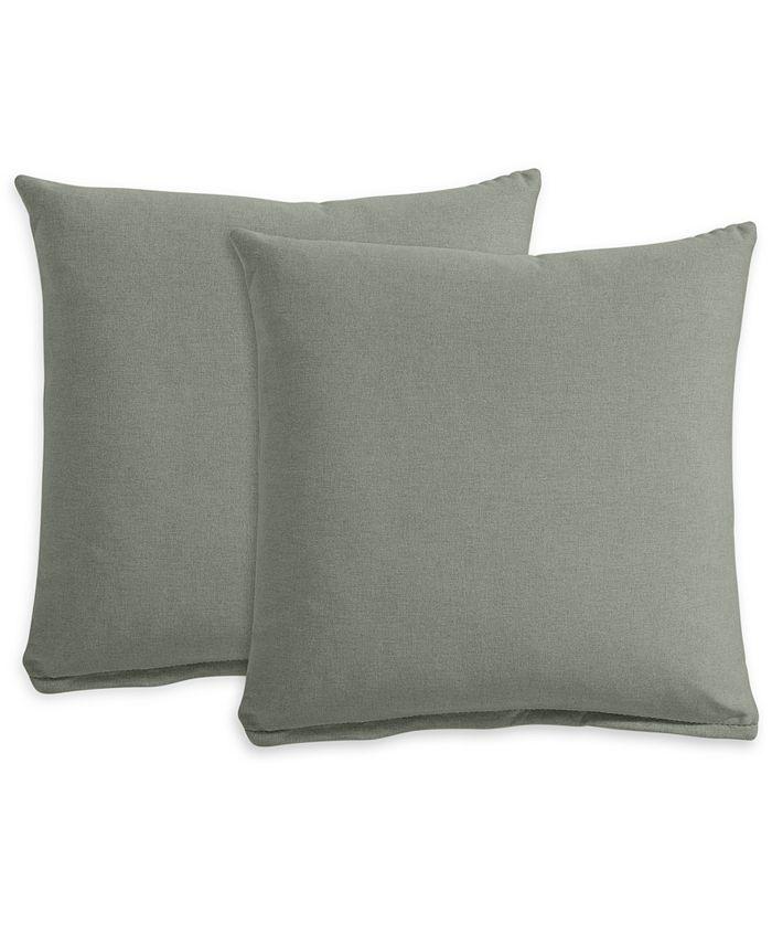 "Furniture - Polyfill 21"" Fabric Pillows (Set of 2)"