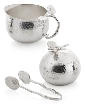 Michael Aram Botanical Leaf Sugar & Creamer with Tongs