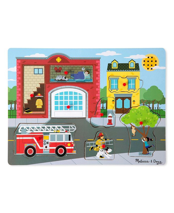 Melissa and Doug - Around the Fire Station Sound Puzzle