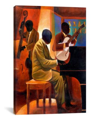 Piano Man by Keith Mallett Wrapped Canvas Print - 40